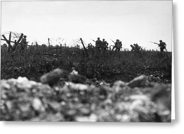 Wwi Somme, 1916 Greeting Card by Granger