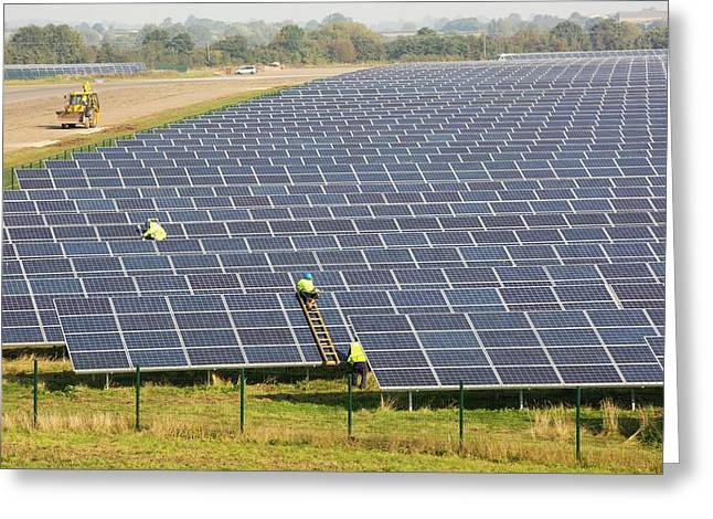 Wymeswold Solar Farm Greeting Card by Ashley Cooper