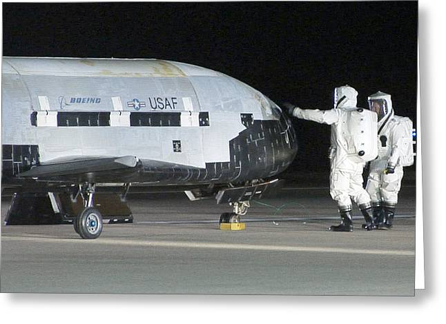 X-37b Orbital Test Vehicle, Post-landing Greeting Card by Science Source