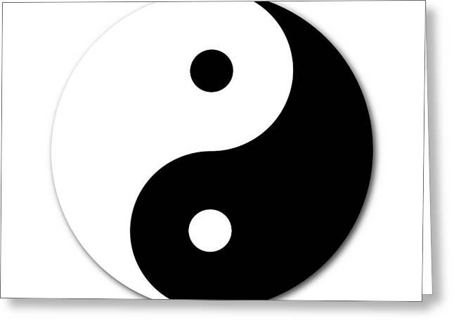 Ying Greeting Cards - Yin Yang Greeting Card by Henrik Lehnerer