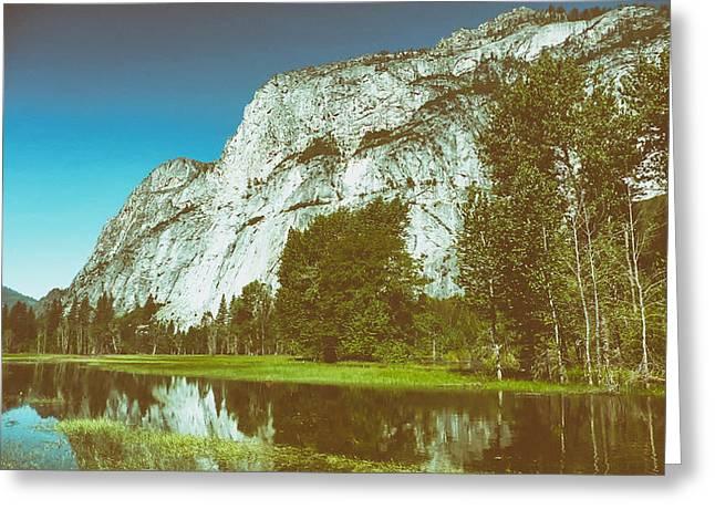 Yosemite Creek Greeting Cards - Yosemite Reflections Greeting Card by Mountain Dreams