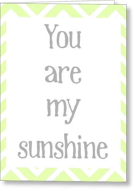 My Baby Greeting Cards - You Are My Sunshine Greeting Card by Jaime Friedman