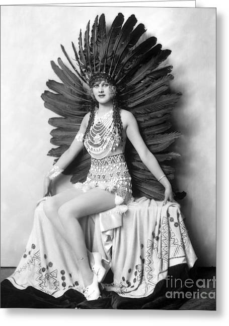 Indian Actor Greeting Cards - Ziegfeld Showgirl - Hazel Forbes - Whoopee Greeting Card by MMG Archive Prints