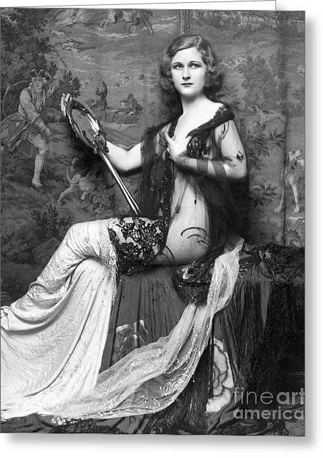 Actor Greeting Cards - Ziegfeld Showgirl Model - Mary Alice Rice - 1931 Greeting Card by MMG Archive Prints