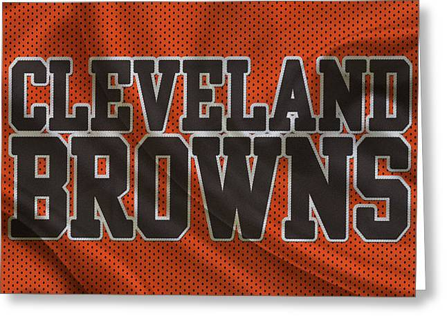 Team Greeting Cards - Cleveland Browns Greeting Card by Joe Hamilton