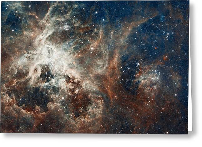 Nebula Greeting Cards - 30 Doradus Tarantula Nebula Greeting Card by Space Art Pictures