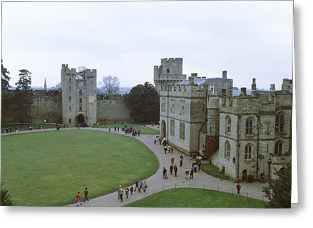 Warwickshire Greeting Cards - High Angle View Of Buildings In A City Greeting Card by Panoramic Images