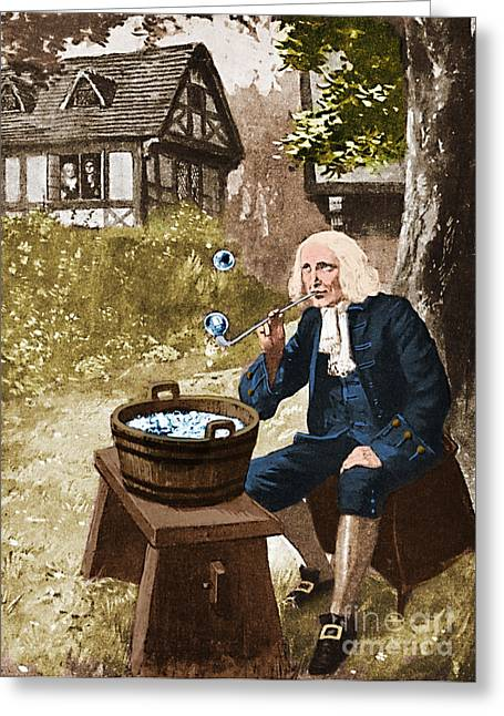 Person Of Color Greeting Cards - Isaac Newton, English Polymath Greeting Card by Science Source