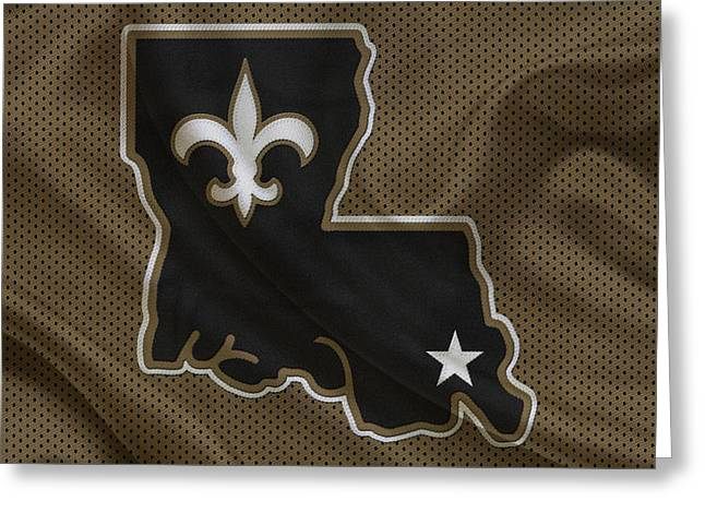 New Orleans Saints Greeting Cards - New Orleans Saints Greeting Card by Joe Hamilton