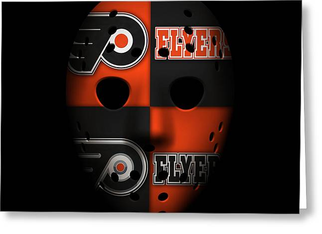 Goalie Greeting Cards - Philadelphia Flyers Greeting Card by Joe Hamilton