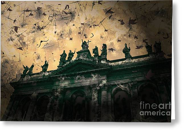 Christ In The Storm Greeting Cards - San Giovanni in Laterano Church Rome Italy Greeting Card by Marina McLain
