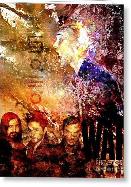Sec Greeting Cards - 30 Seconds to Mars Painting Print Greeting Card by Ryan RockChromatic