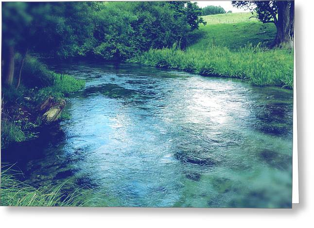 Beautiful Creek Photographs Greeting Cards - Spring water Greeting Card by Les Cunliffe