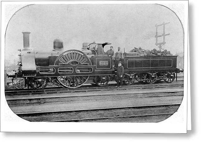 Express Greeting Cards - 3020 Cornwall Train 1890 Greeting Card by Nomad Art And  Design