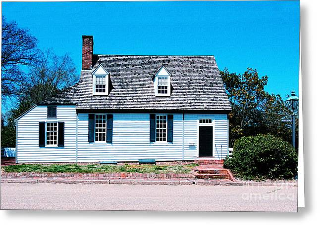 Historic Home Mixed Media Greeting Cards - 303 Prince George Street- Williamsburg photography- altered art Greeting Card by Patricia Griffin Brett