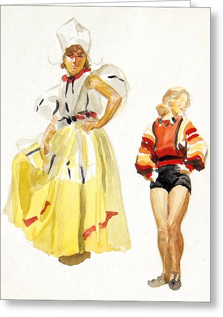 Swiss Miss Greeting Card by Robert Poole