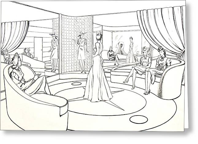 Classic Hollywood Drawings Greeting Cards - The Women Greeting Card by Robert Poole