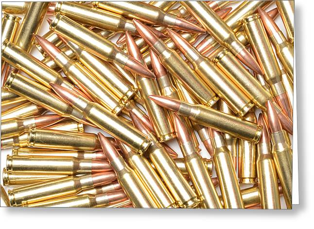 Reloading Greeting Cards - 308 Winchester Cartridges. Greeting Card by John Bell