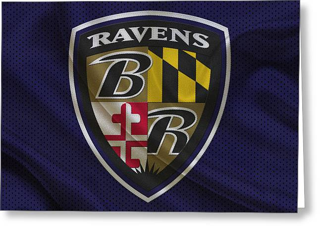 Recently Sold -  - Player Greeting Cards - Baltimore Ravens Greeting Card by Joe Hamilton