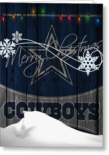 Team Greeting Cards - Dallas Cowboys Greeting Card by Joe Hamilton