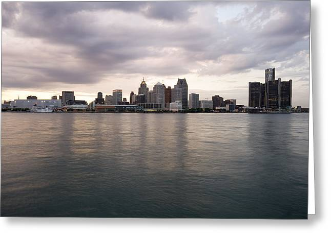 Detroit River Greeting Cards - Detroit Skyline Greeting Card by Gary Marx