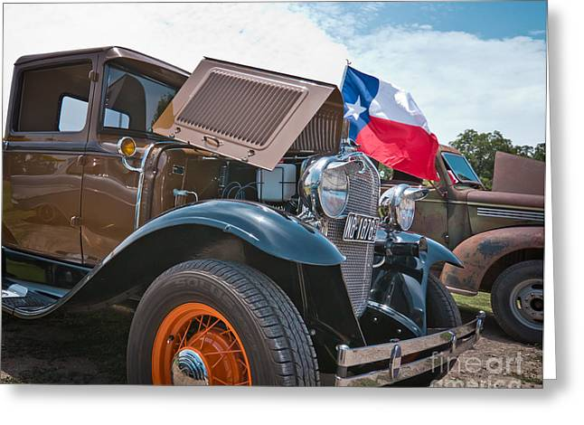Antique Show Greeting Cards - 31 Ford Texas Pickup Greeting Card by Robert Frederick