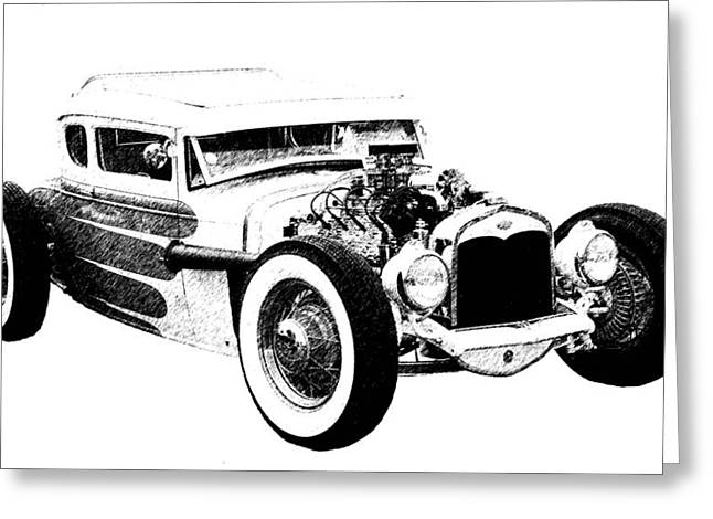 31 Model A Greeting Card by Guy Whiteley