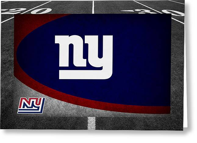 Presents Greeting Cards - New York Giants Greeting Card by Joe Hamilton