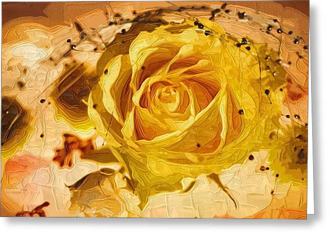 Close Up Paintings Greeting Cards - Oil Paintings Flowers Greeting Card by Victor Gladkiy