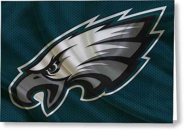 Offense Greeting Cards - Philadelphia Eagles Greeting Card by Joe Hamilton