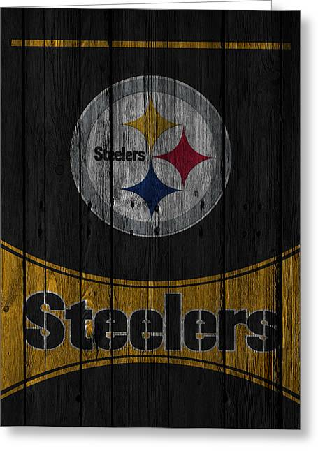 Pittsburgh Greeting Cards - Pittsburgh Steelers Greeting Card by Joe Hamilton