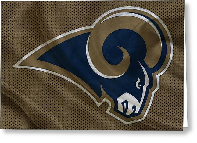 St Louis Greeting Cards - St Louis Rams Greeting Card by Joe Hamilton