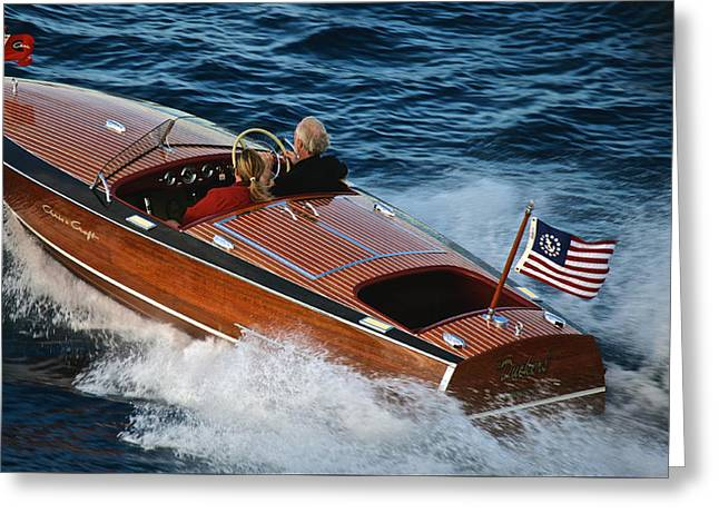 Mahogany Greeting Cards - Tahoe Concours d Elegance Greeting Card by Steven Lapkin