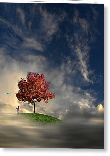 Kite Greeting Cards - 3170 Greeting Card by Peter Holme III