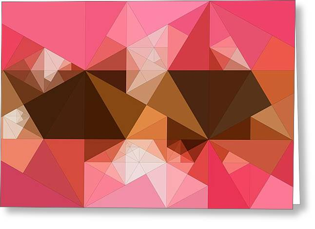 Abstract Geometric Greeting Cards - Abstract Art Of Triangles Greeting Card by Victor Gladkiy