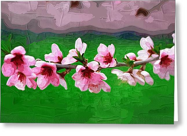 Printables Greeting Cards - Abstract Flowers Paintings Greeting Card by Victor Gladkiy