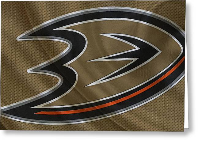 Anaheim Greeting Cards - Anaheim Ducks Greeting Card by Joe Hamilton