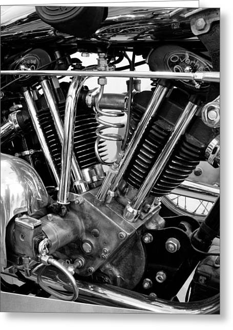 Motorcycle Engines Greeting Cards - 32 Brough Superior Greeting Card by Marley Holman