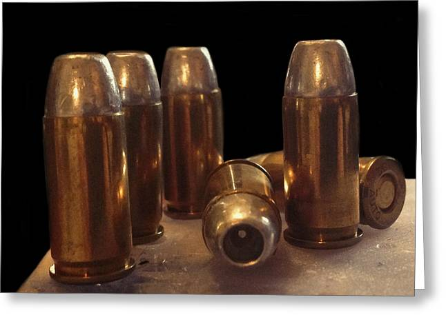 Ammunition Greeting Cards - Bullet Art 32 Caliber Bullets 3514 Greeting Card by Lesa Fine
