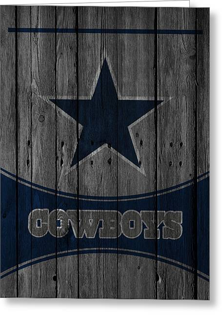 Bowls Greeting Cards - Dallas Cowboys Greeting Card by Joe Hamilton