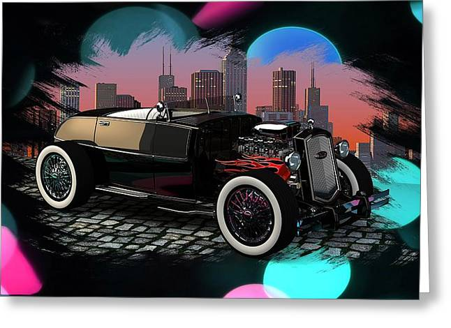 Louis Ferreira Art Greeting Cards - 32 Ford Greeting Card by Louis Ferreira