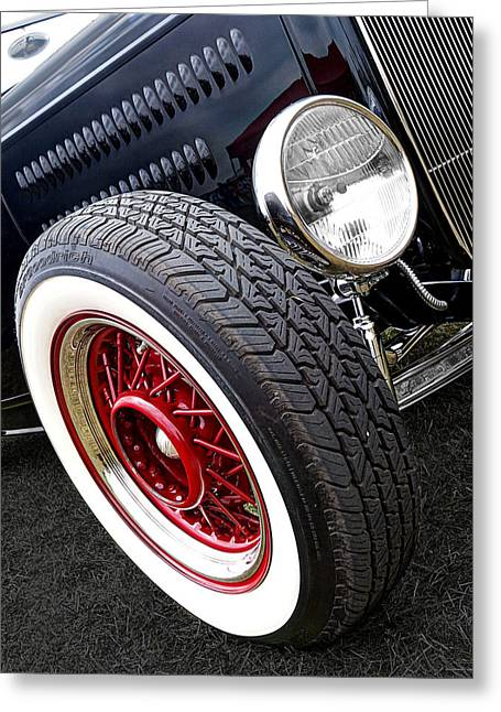 Wire Wheels Greeting Cards - 32 Ford Roadster Greeting Card by Gill Billington