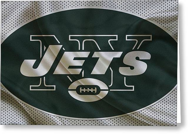 Field Greeting Cards - New York Jets Greeting Card by Joe Hamilton
