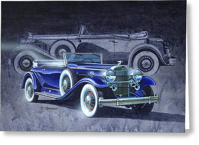 Nostalgia Greeting Cards - 32 Packard Greeting Card by Richard De Wolfe