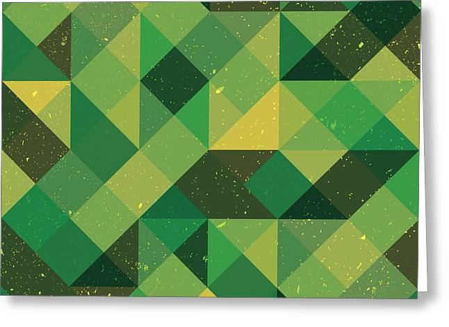 Abstract Geometric Greeting Cards - Pixel Art Greeting Card by Mike Taylor