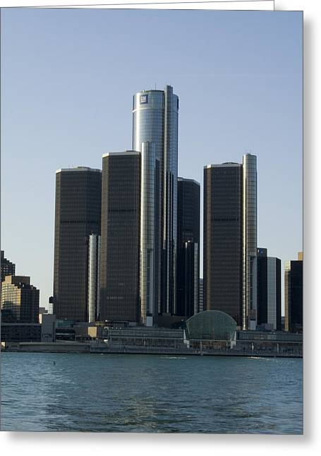 Skyline Greeting Cards - Renaissance Center Greeting Card by Gary Marx