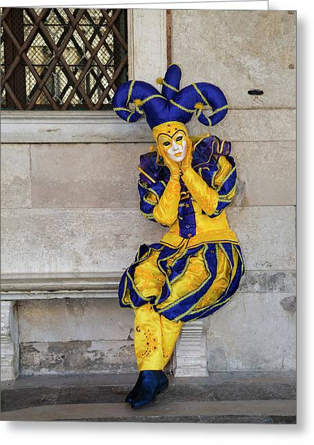 Venice At Carnival Time, Italy Greeting Card by Darrell Gulin