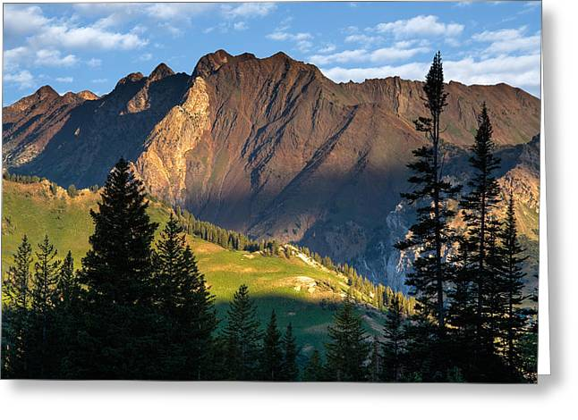 Little Cottonwood Canyon Greeting Cards - Wasatch Mountains Utah Greeting Card by Utah Images