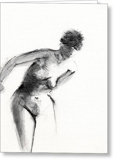 Black And White Nudes Greeting Cards - RCNpaintings.com Greeting Card by Chris N Rohrbach