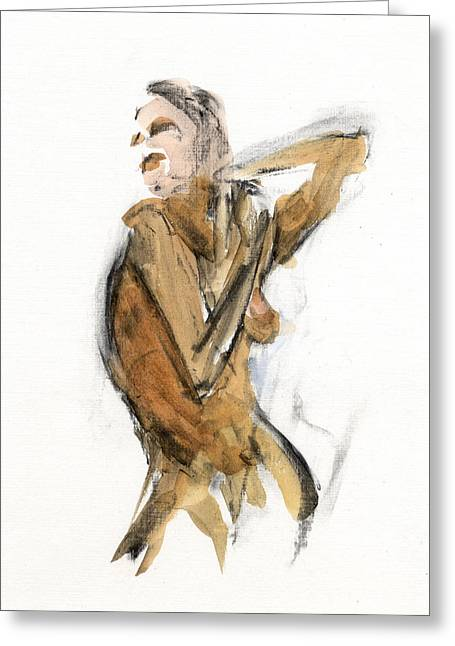 Figure Drawing Greeting Cards - RCNpaintings.com Greeting Card by Chris N Rohrbach